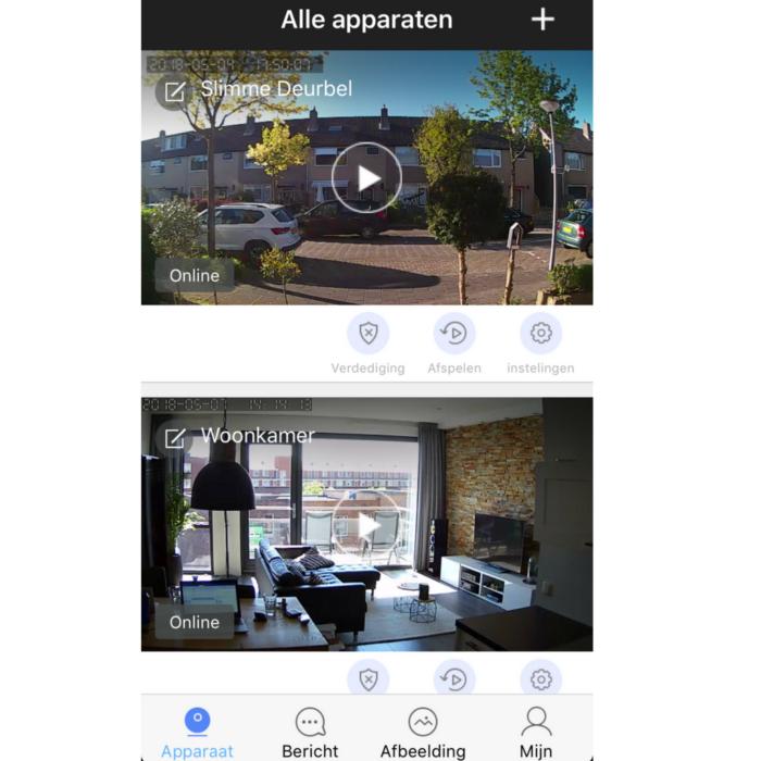 App weergave smart home beveiliging