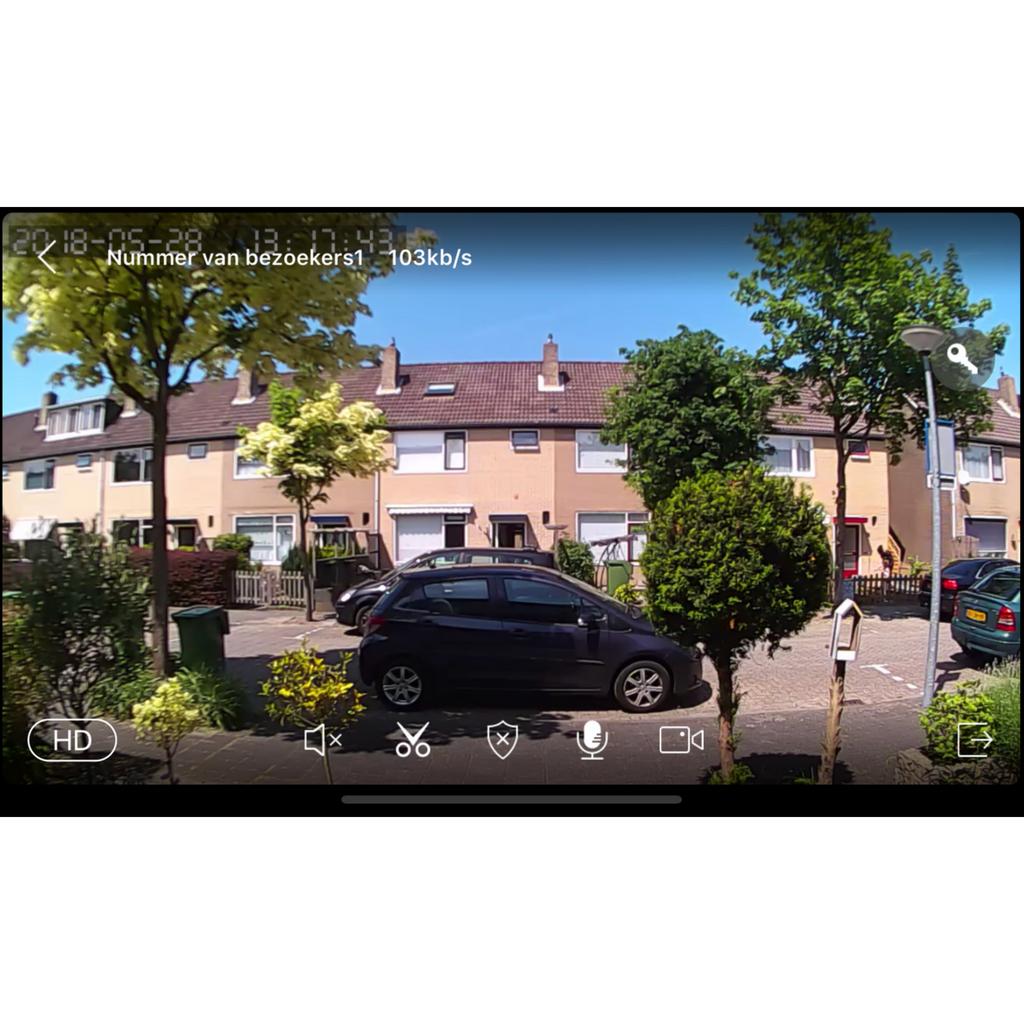 Slimme deurbel met camera live weergave