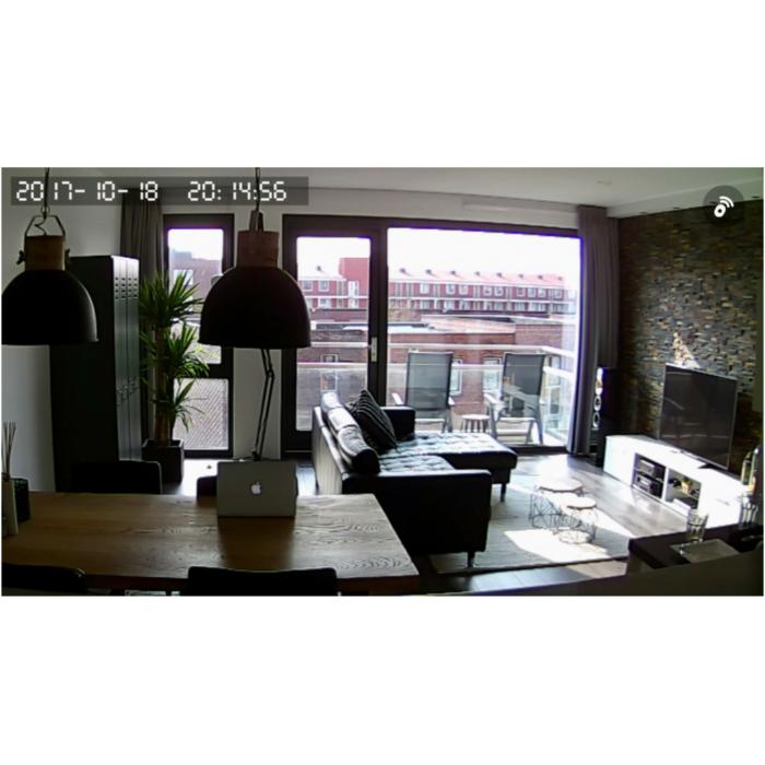 Smart Home Beveiliging live weergave