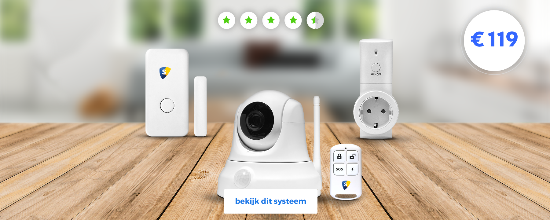 smart home beveiliging start pakket alarmsysteem